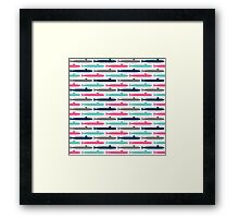 Colorful Submarine Squadron Framed Print