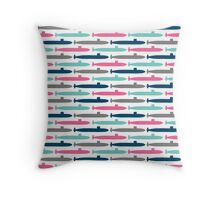 Colorful Submarine Squadron Throw Pillow