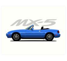 Mazda MX-5 blue Art Print