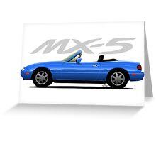 Mazda MX-5 blue Greeting Card