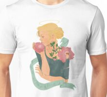 Ophelia with peonies  Unisex T-Shirt