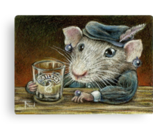 Patricia the rat Canvas Print