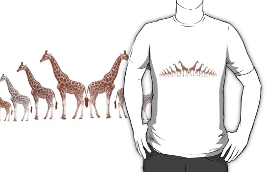 Giraffe Nation T Shirt by simpsonvisuals