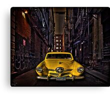 Back Alley Taxicab Canvas Print