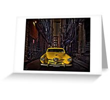 Back Alley Taxicab Greeting Card