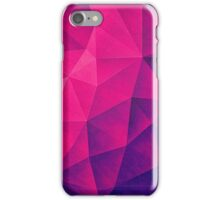 Abstract Polygon Multi Color Cubizm Painting in deep pink/purple  iPhone Case/Skin