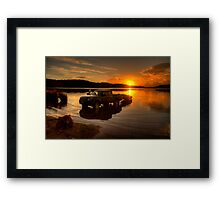 Getting It Wet - Narrabeen Lakes, Sydney - The HDR Experience Framed Print