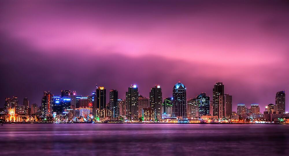 San Diego By Night by Lynn Geoffroy