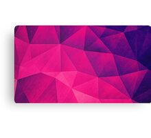 Abstract Polygon Multi Color Cubizm Painting in deep pink/purple  Canvas Print