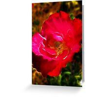 Red Poppy Fractalius Greeting Card