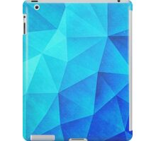 Abstract Polygon Multi Color Cubizm Painting in ice blue iPad Case/Skin