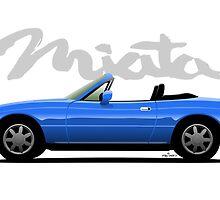 Mazda Miata blue by car2oonz