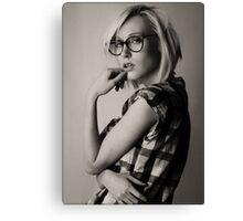 a portrait of Iveta Canvas Print