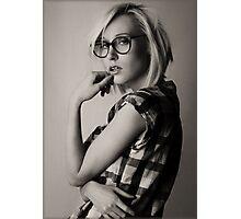 a portrait of Iveta Photographic Print