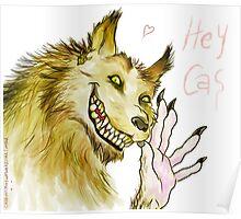Werewolf!Dean waving Poster