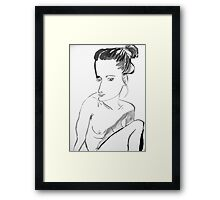 kate is going to india Framed Print