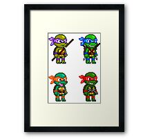 Teenage Mutant Ninja Turtles Pixels Framed Print