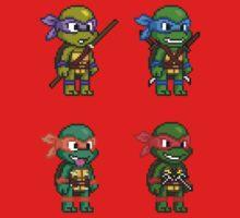 Teenage Mutant Ninja Turtles Pixels Baby Tee