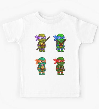 Teenage Mutant Ninja Turtles Pixels Kids Tee