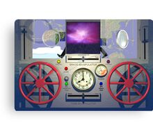 MSTC ( Manipulation of space - time continuum) machine main control panel. Canvas Print