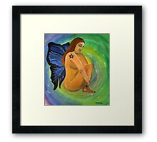 Human Butterfly Framed Print