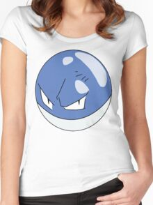 Shiny Voltorb, Pokemon Women's Fitted Scoop T-Shirt
