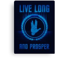 Live Long and Prosper - Spock's hand - Leonard Nimoy Geek Tribut Canvas Print