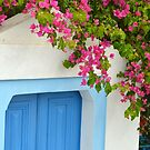 Santorini doorway by AHigginsPhoto