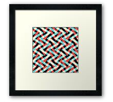 Crazy Retro ZigZag Framed Print