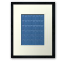Doctor Who TARDIS Blueprint Pattern Framed Print