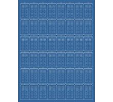 Doctor Who TARDIS Blueprint Pattern Photographic Print