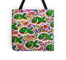 Any Which Way Go Fishies Tote Bag