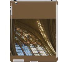 Glorious, Colorful Sunlight - Stained Glass Church Windows in a Royal Chapel in Paris, France iPad Case/Skin