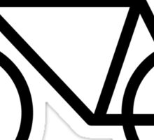 Black Bicycle Love - Fixie Hearts Sticker
