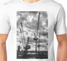 Tower Cranes on City of London Skyline Unisex T-Shirt
