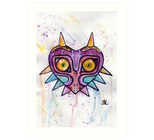 Majoras Mask Watercolour Art Print