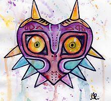 Majoras Mask Watercolour by Alyshia  Eming