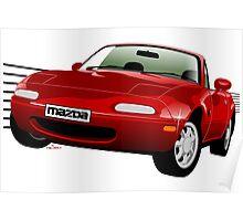 Mazda MX-5/Miata NA red Poster