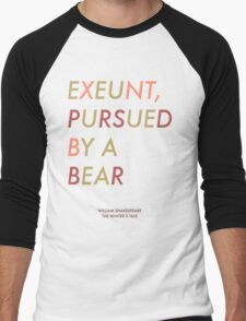 Exeunt Pursued By A Bear - Shakespeare Men's Baseball ¾ T-Shirt