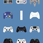 Game Controllers [Blue] by Fardan Munshi