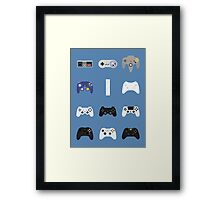Game Controllers [Blue] Framed Print