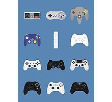 Game Controllers [Blue] Photographic Print