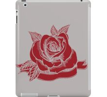 Rose Tattoo Woodcut iPad Case/Skin