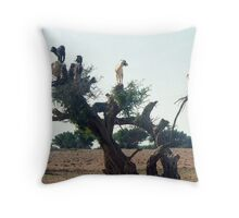 Goats in the Trees Throw Pillow
