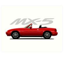 Mazda MX-5 red Art Print