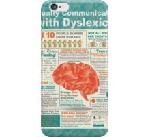 Visually Communicating with Dyslexics Infrographic iPhone Case/Skin