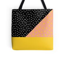 Polka Dot plus Peach Pit Tote Bag
