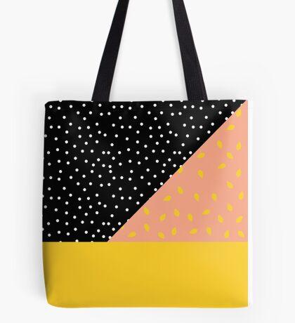 Polka Dot plus Peach Pit Tote Bag