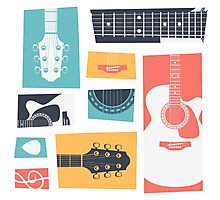 Guitar Collage Photographic Print