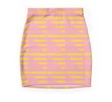 Pink Peach and Yellow Houndstooth Mini Skirt